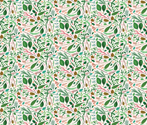 Deconstructed Wreath fabric by zoe_ingram on Spoonflower - custom fabric