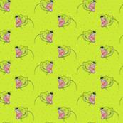 Tasmanian Devils on yellow