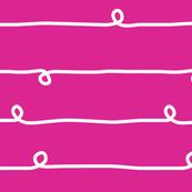 Big Scandinavian Stripes and Loops Pink