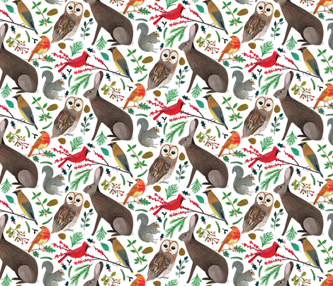 Winter Animals fabric by zoe_ingram on Spoonflower - custom fabric