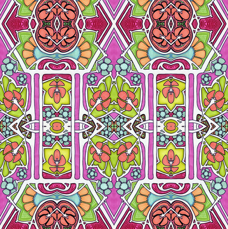 Colorful and Bright Geometric Sight fabric by edsel2084 on Spoonflower - custom fabric