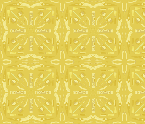 Tool Mosaic Yellow Fabric By Lorem Ipsum On Spoonflower
