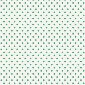 White with Green Dots
