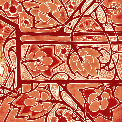 Fire in the Fall fabric by edsel2084 on Spoonflower - custom fabric