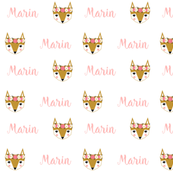 fox personalized fabric baby nursery marin baby cute girls personalised fabric