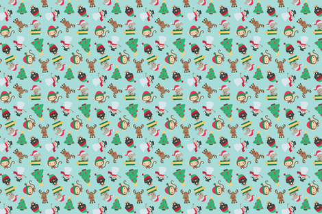 Christmas Animals fabric by dorkydoodles on Spoonflower - custom fabric