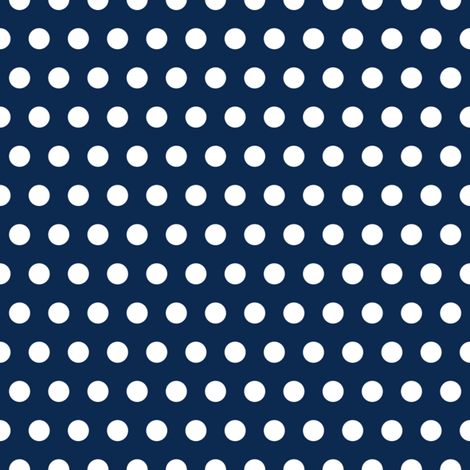 Garden Party - Navy Blue Polka Dots fabric by michalwright-ward on Spoonflower - custom fabric