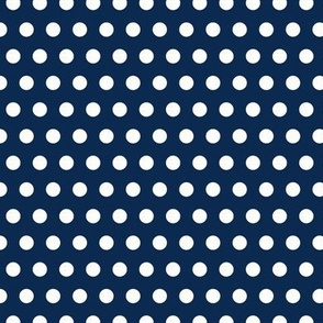 Garden Party - Navy Blue Polka Dots