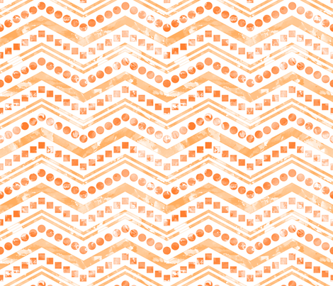 Watercolor Chevron Mix White Orange fabric by wickedrefined on Spoonflower - custom fabric
