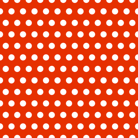 Garden Party - Red Polka Dots fabric by michalwright-ward on Spoonflower - custom fabric