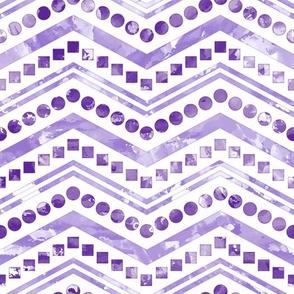 Watercolor Chevron Mix White Purple