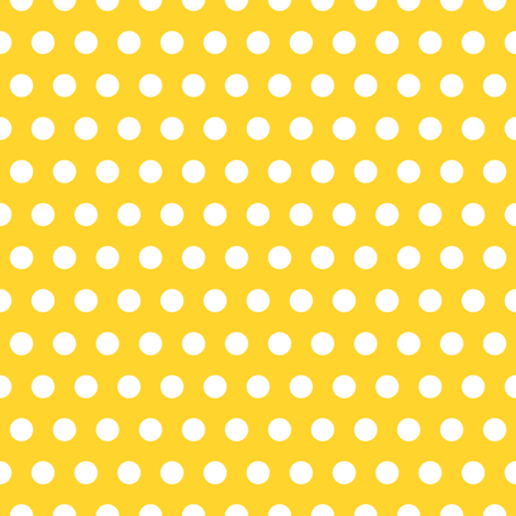 Garden Party - Canary Yellow Polka Dots fabric by michalwright-ward on Spoonflower - custom fabric