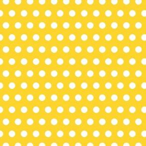 Garden Party - Canary Yellow Polka Dots