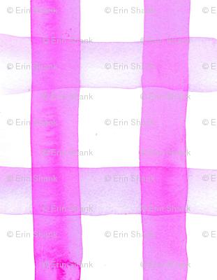 gingham watercolor neon purple