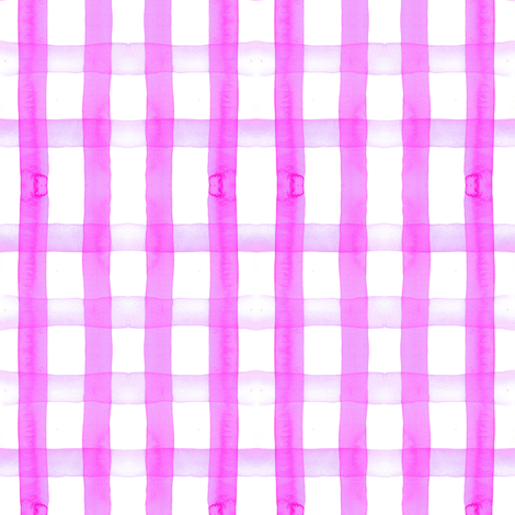 gingham watercolor neon purple fabric by erinanne on Spoonflower - custom fabric