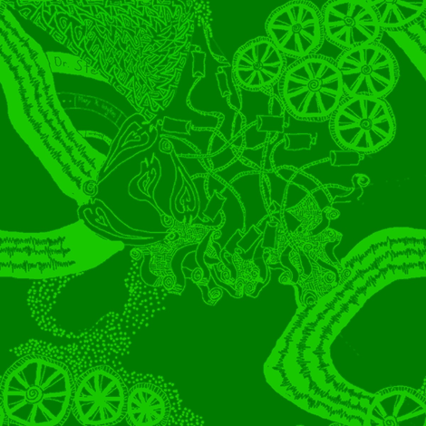 Healing Arts Heal Hearts, Lime Green on Olive Lace, HAGG 6 large fabric by maryyx on Spoonflower - custom fabric