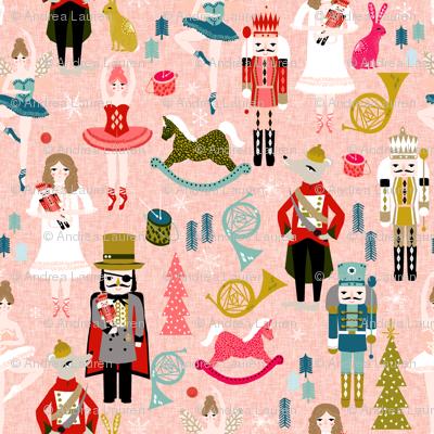 nutcracker ballet // nutcrackers xmas holiday christmas christmas xmas holiday fabric by andrea lauren