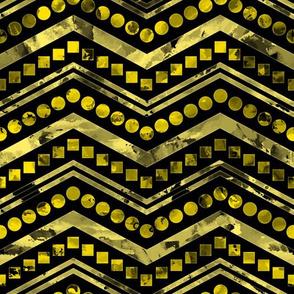 Watercolor Chevron Mix Black Yellow