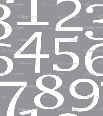 numbers on charcoal