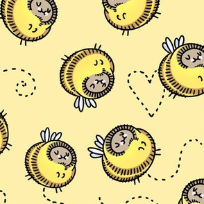 """Busy Bees yellow 2.5"""""""
