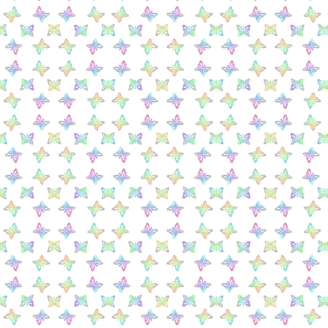 Micro Rainbow Butterfly Stencilled  fabric by karwilbedesigns on Spoonflower - custom fabric