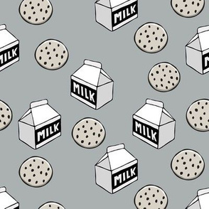 milk and cookies || grey milk carton