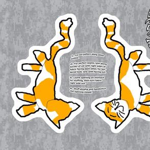 Cat Large Stuffie - Kid's Design