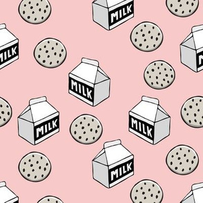 milk and cookies || milk carton on rose