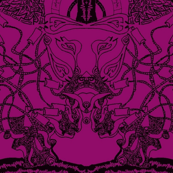 Healing Arts Heal Hearts, Black Lace on Purple, HAP 8