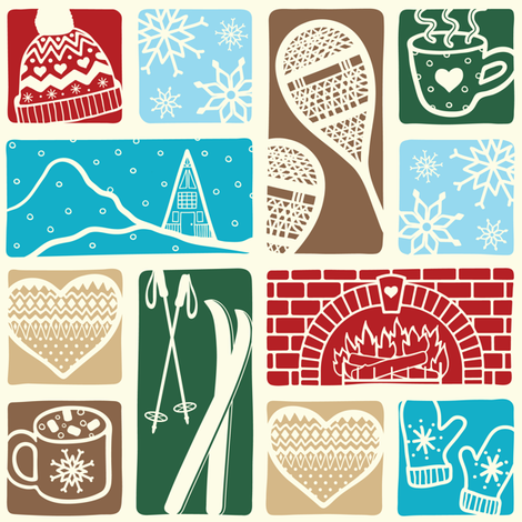 Heartwarming Chalet fabric by moonpuff on Spoonflower - custom fabric
