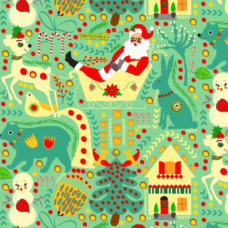 Alpine Christmas fabric by orangefancy on Spoonflower - custom fabric