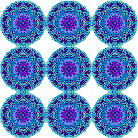 Violet mandala fabric by magic_pencil on Spoonflower - custom fabric