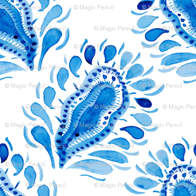 Traditional blue and white pattern