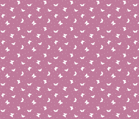 Small Butterflies - Lavender and White fabric by hazel_fisher_creations on Spoonflower - custom fabric