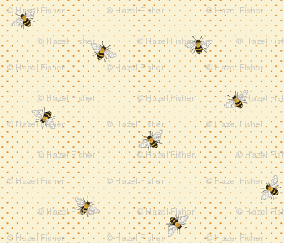 Bees on spotty