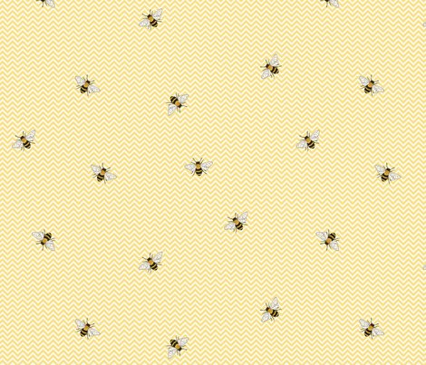 Rbees_on_yellow_chevron_150_hazel_fisher_creations_shop_preview