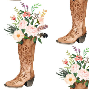 Cowgirl Boot with Bouquet