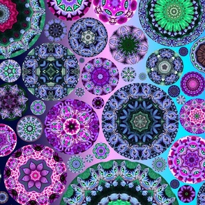 Fat Quarter Kaleidoscope Cheshire Cats4