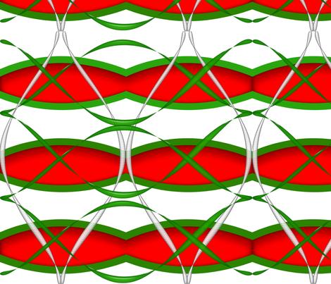 Holiday Ribbons fabric by gnarllymamadesigns on Spoonflower - custom fabric