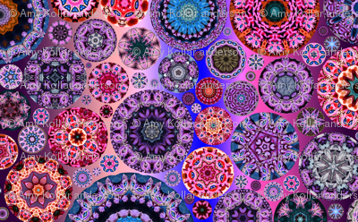 Fat Quarter Kaleidoscope Cheshire Cats Hot