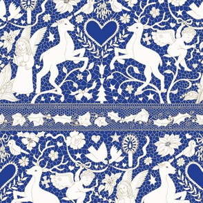 Antique Lace - Royal Blue