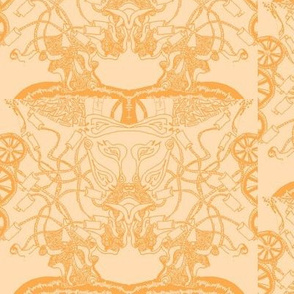 Healing Arts Heal Hearts, Orange on Pastel Peach Lace, HAOP 8