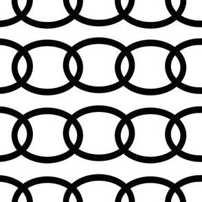 Black Chains Links Repeat Geometric Design