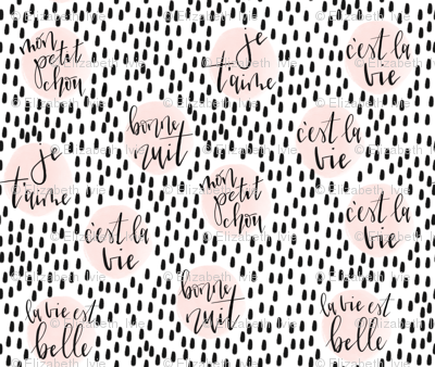 hand-lettered french phrases // petal