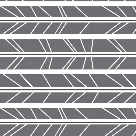Grey Tree Branch Herringbone - Rotated fabric by modfox on Spoonflower - custom fabric