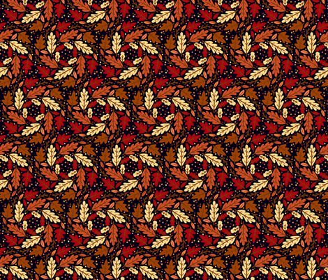Fall Autumn Leaves fabric by khaus on Spoonflower - custom fabric