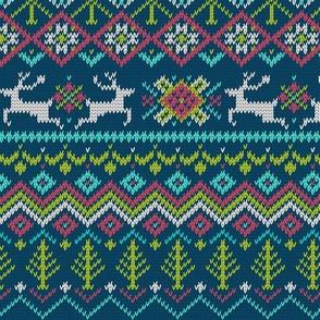 Winter Sweater Snowflake Reindeer Pattern