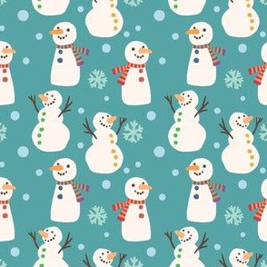 Cute Winter Holiday Snowmen