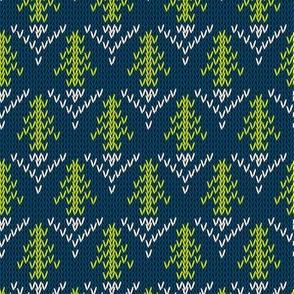 Digital Winter Sweater Christmas Tree Pattern