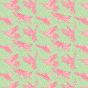 Rleaf_and_hummingbirds_pattern_-_pink_spoonflower_shop_thumb